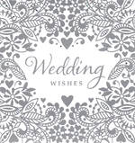 Mini Card Wedding Wishes Foil