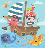 Mini Card Birthday Juvenile Pirates