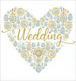Mini Card Wedding Flitter Heart