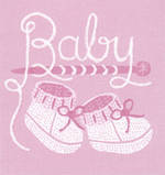 Mini Card Baby Girl Little Boots
