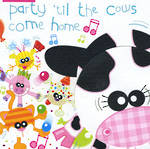Kids' Birthday Card: Doolallys Party Cows