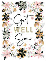 Jumbo Card All 4 One Get Well Floral
