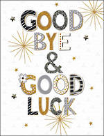 Jumbo Card All 4 One Goodbye & Good Luck Black