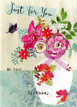 Floral Fancy Birthday Flower Vase