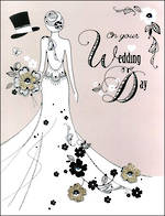 Jumbo Card Wedding White Dress