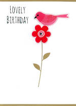 Gumdrops Birthday Bird On Flower