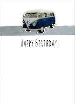 Gumdrops Birthday Blue Kombi Van