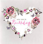 Buttoned Up Birthday Heart