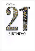 Birthday Age Card 21 General Just A Number
