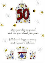 Birthday Age Card 50 Male Just To Say