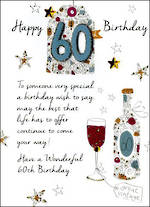 Birthday Age Card 60 Male Just To Say