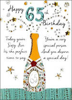 Birthday Age Card 65 Male Just To Say