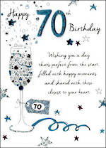 Birthday Age Card 70 Male Just To Say