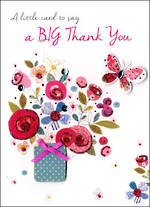 Thank You Card Just to Say Big