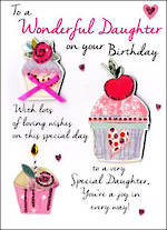 Daughter Birthday Card Just to Say Cupcakes