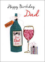 Dad Birthday Card Just To Say Wine