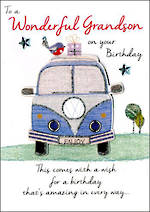 Grandson Birthday Card Just To Say Birthday Combi