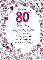 Birthday Age Card 80 Female Just To Say