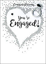 Engagement Card Just To Say Diamond Ring