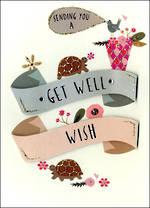Get Well Card Just To Say Wish