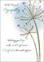 Sympathy Card Just to Say Hope Comfort