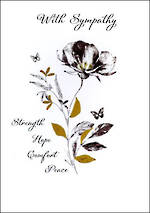 Sympathy Card Just to Say Strength