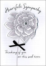 Sympathy Card Just To Say Flower
