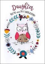 Daughter Birthday Card Just to Say Owl