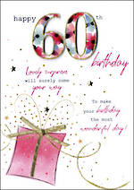 Birthday Age Card 60 Female Just To Say Gift