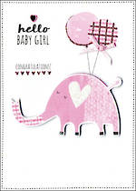 Baby Card Girl Yours Truly Elephant
