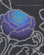 Female Birthday Card: Karma Blue Purple Flower
