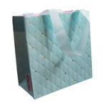 Small Gift Bag Quilted Mint