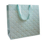 Large Gift Bag Quilted Mint
