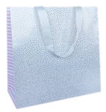 Large Gift Bag General White Shimmer
