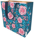 Medium Gift Bag Female Roses On Navy