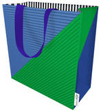 Medium Gift Bag Male Signal Flag Blue Green