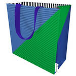 Large Gift Bag Male Signal Flag Blue Green