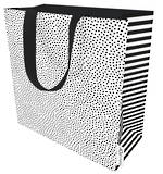 Large Gift Bag Black Dot on White