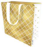 Small Gift Bag Quilted Gold