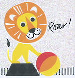 Mini Card: Roar Lion With Ball