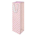 Bottle Gift Bag Glitter Dots Pink