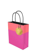 Small Gift Bag Lollypop Pink Orange