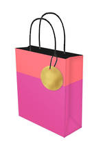 Medium Gift Bag Lollypop Pink Orange