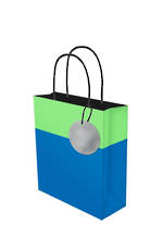 Small Gift Bag Lollypop Blue Green
