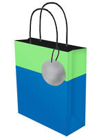 Large Gift Bag Lollypop Blue Green