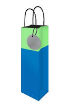 Bottle Gift Bag Lollypop Blue Green