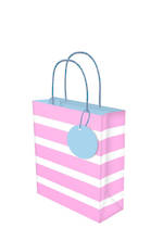 Small Gift Bag Lollypop Pink White Stripe