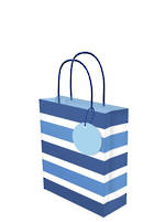 Small Gift Bag Lollypop Blue Stripe