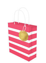 Medium Gift Bag Lollypop Red White Stripe