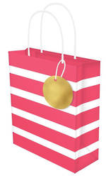 Large Gift Bag Lollypop Red White Stripe